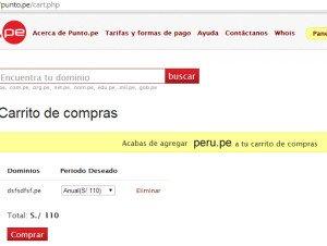 comprar un dominio peruano pe
