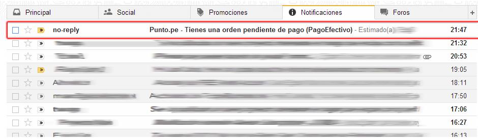 dominio peru comprar correo notificacion